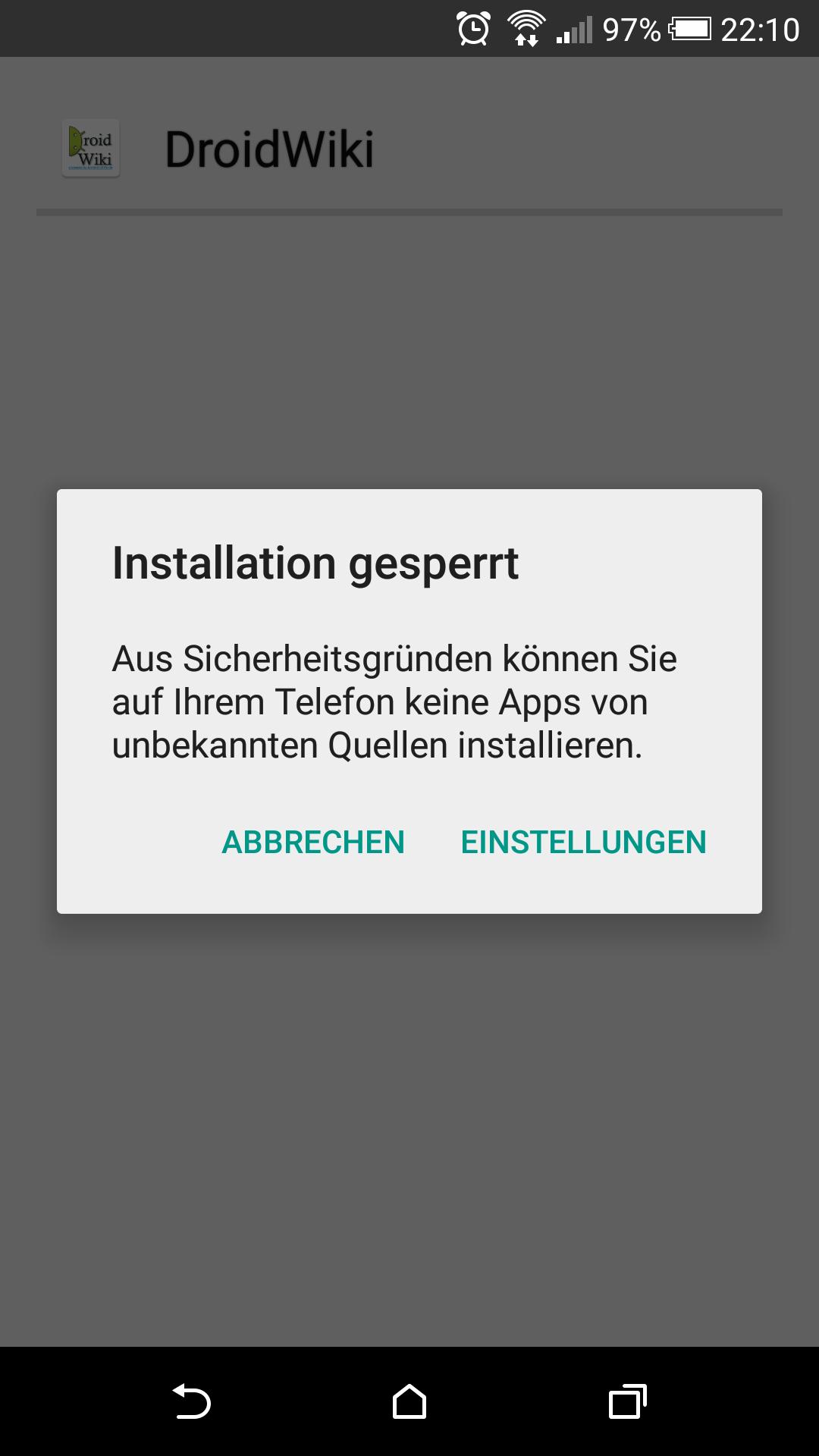 Android Unbekannte Quellen